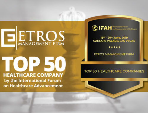 ETROS Management Firm Selected as Top 50 Healthcare Company in the USA.